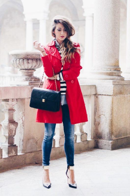 U00a1Ideas de outfits para llevar tu saco rojo! - Anzze
